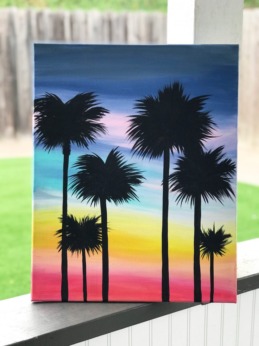 Creative Flow // Palm Tree Painting