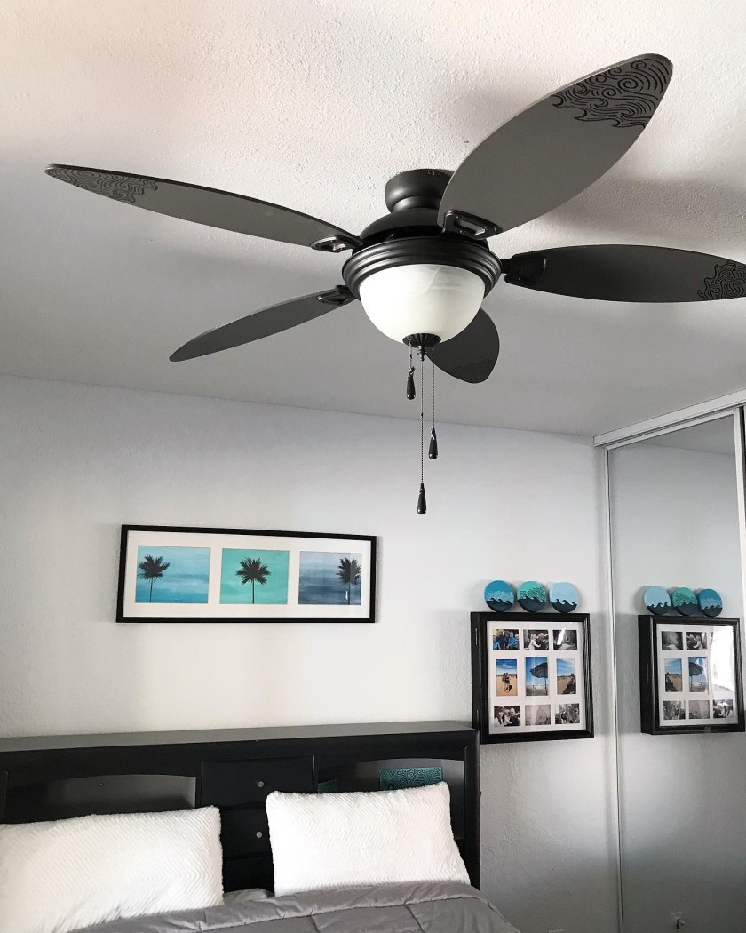Paint a Ceiling Fan with Wave Designs