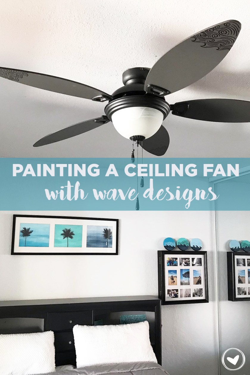 Painting A Ceiling Fan With Wave Designs