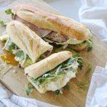 Ham, Cheese and Honey Mustard Sandwich