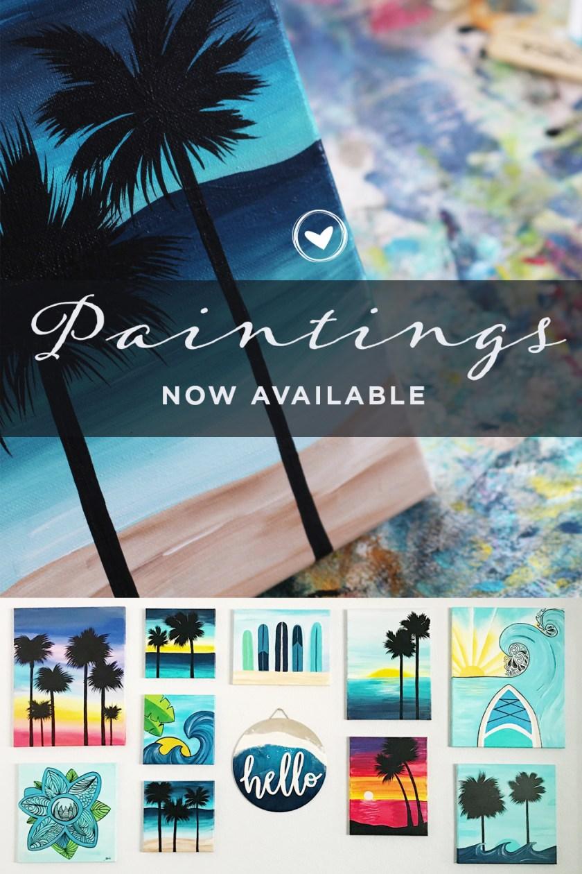 BriGeeski Beach Scene Art Series // Paintings Now Available
