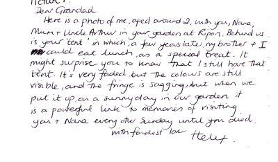 Helen's postcard to her grandad
