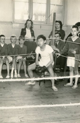Nobuo – Boxing in 1962 -photo Mr Trebacz