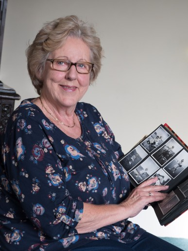 Margaret with her family photograph album