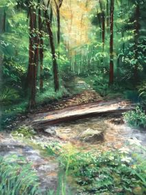 Peace and Calm in the Wood by Ros Fraser-Johnson