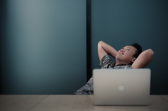 Teaching Resources: man relaxing with laptop