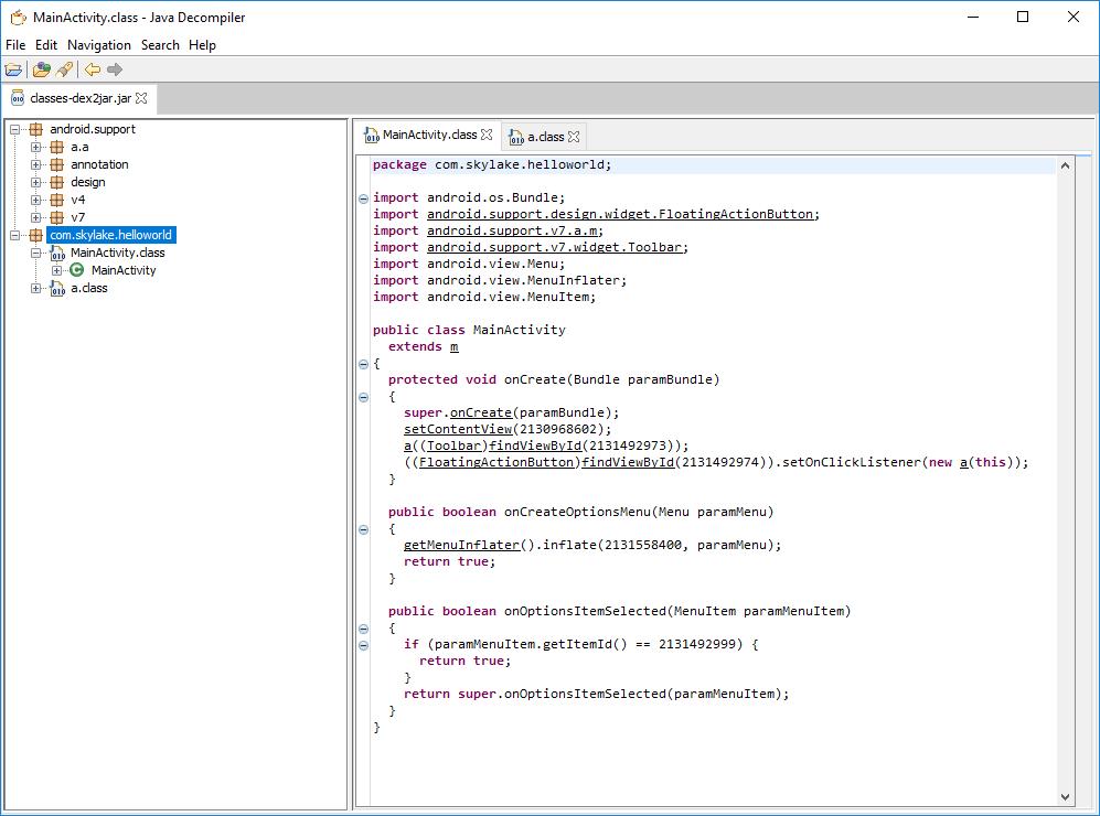 decompiler apk sous windows