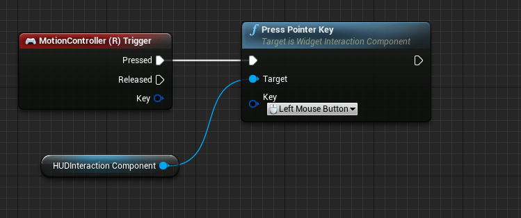 Creating interactive huds for virtual reality with unreal engine 4 send a click via widget interaction component when the right trigger of the motion controller is pressed malvernweather Images