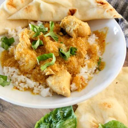 Crockpot Coconut Chicken Curry with Squash