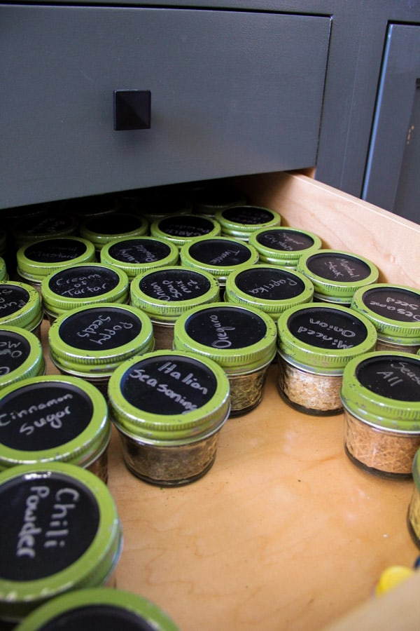 Mason Jar Spice Drawer