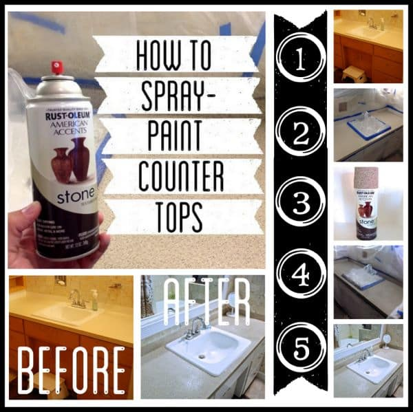 How To Paint Bathroom Laminate Cabinets: How To Spray Paint Countertops