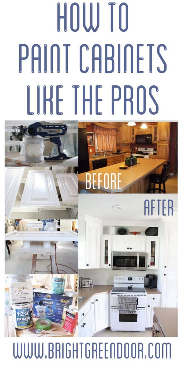 how to paint kitchen cabinets like a pro how to spray paint cabinets like the pros bright green door 9808