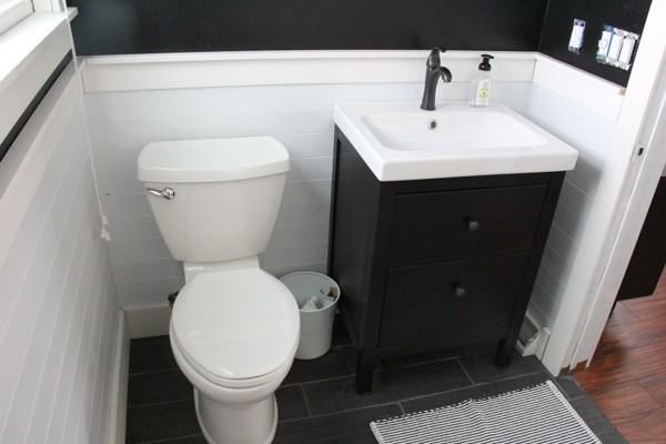 Bathrom with Tongue and Groove Planking