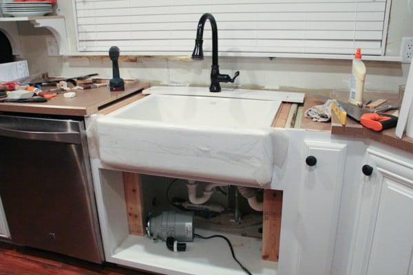 installing a kohler whitehaven sink