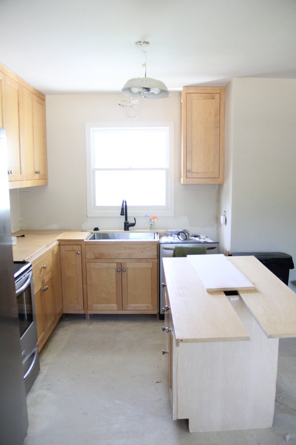 Our Craigslist Kitchen Cabinets Bright Green Door