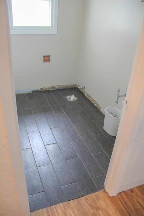 black plank tile bathroom 12 bright