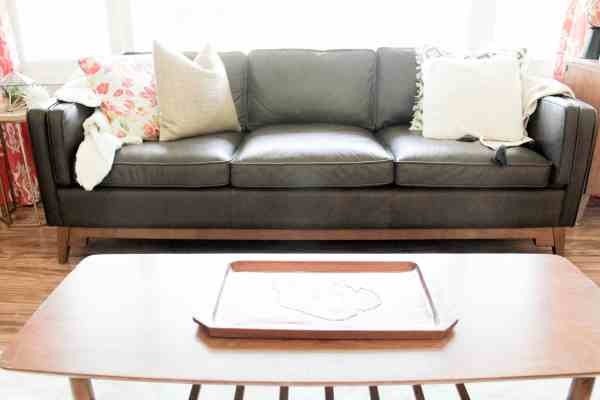 Leather Mid Century Couch