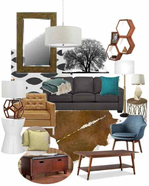 Modern Cowboy Living Room Mood Board
