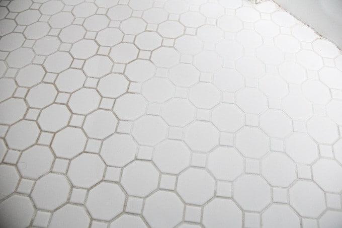 refresh white grout on tile floors