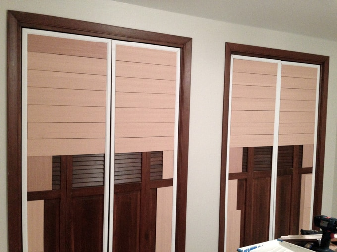 DIY Planked Closet Doors