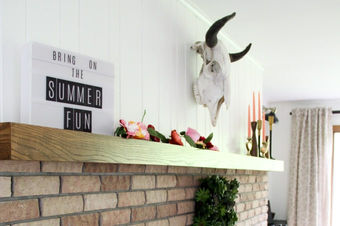 Skull in Modern Living Room