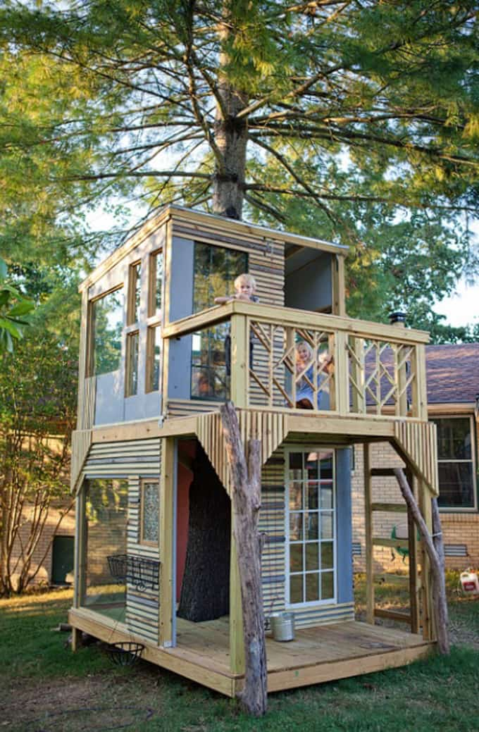 Bright Green House DIY Tree House Inspiration Bright Green Door