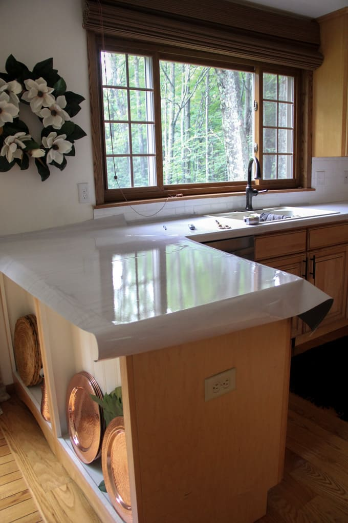 How to Lay Contact Paper Countertops