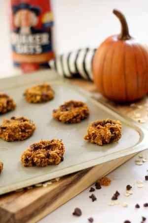 Healthier Oatmeal Pumpkin Chocolate Chip Cookies