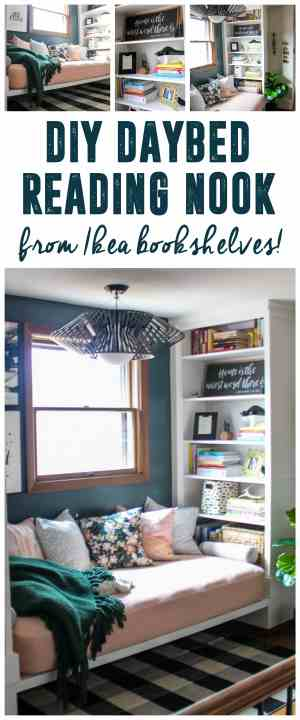 How to Built a Daybed with Ikea Bookshelves