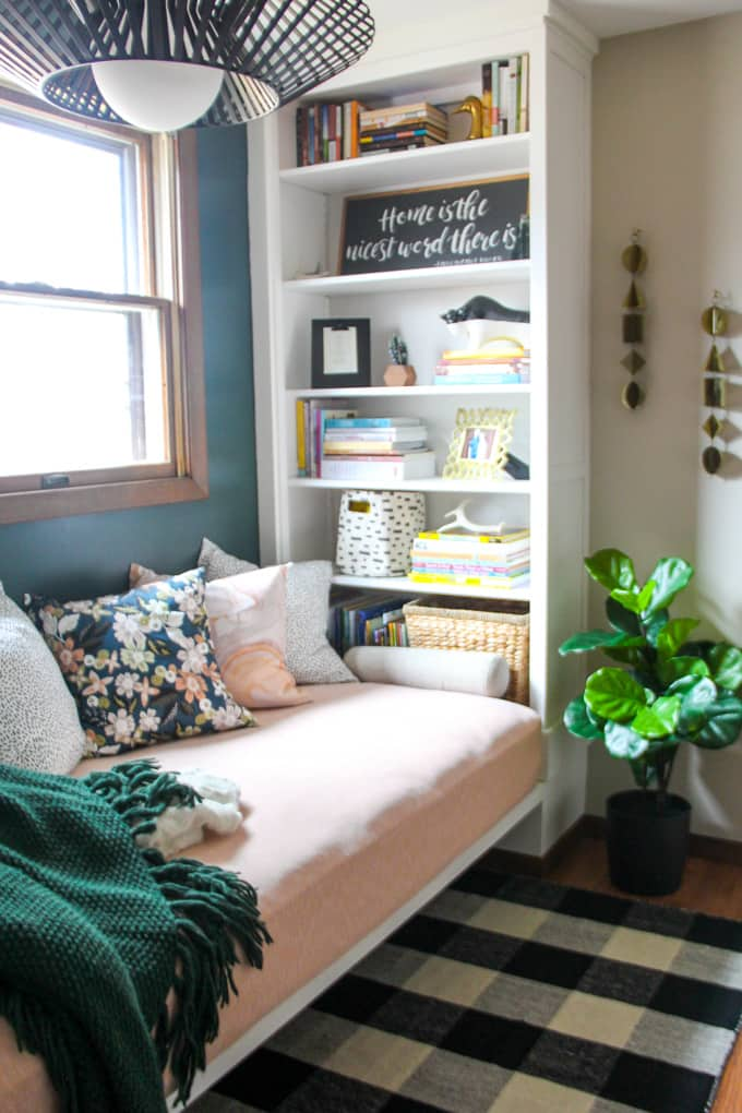 Modern Daybed in Built in Library