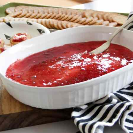 Simple Cream Cheese and Pepper Jelly Dip