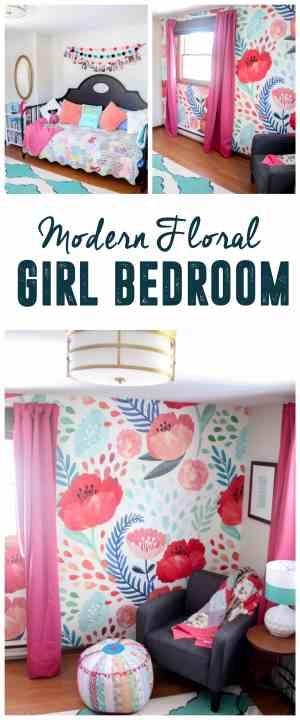 Modern Floral Girl Bedroom