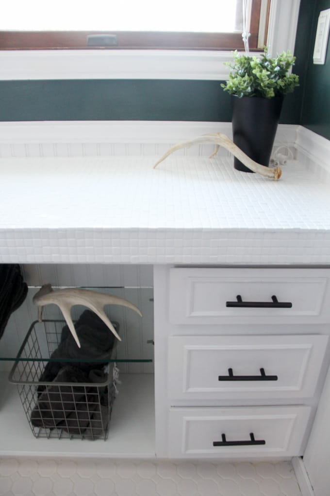 Counter with Painted Countertops