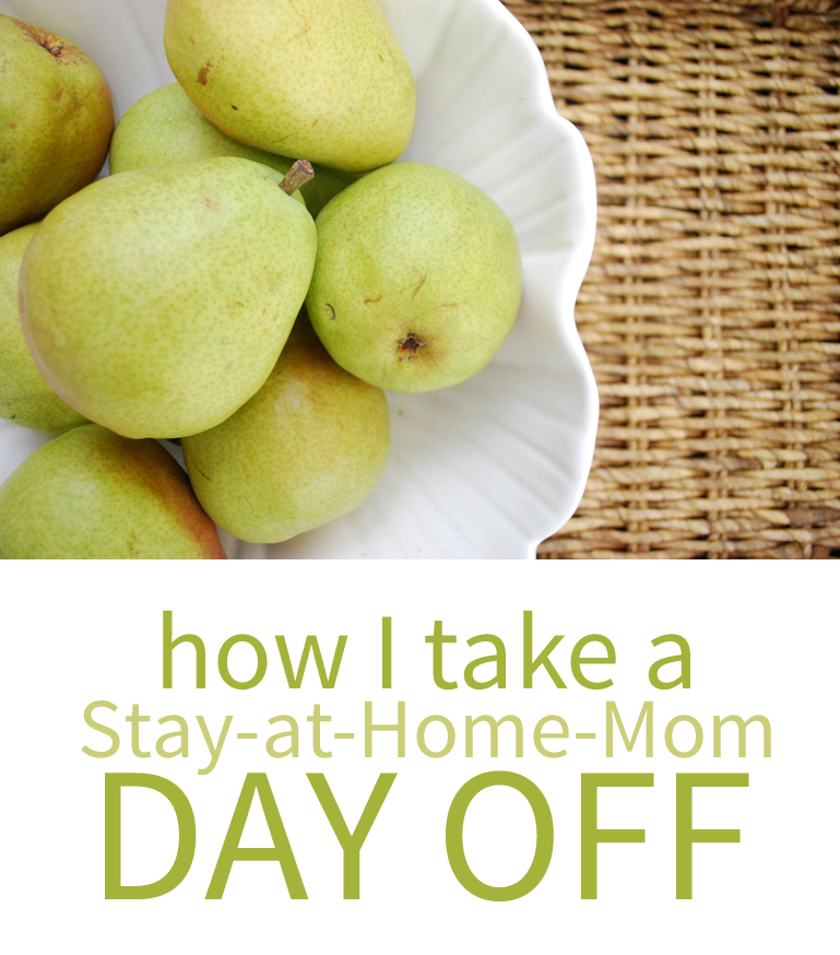 "How I take a regular ""day off"" as a stay-at-home-mom"