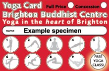 Yoga Classes loyalty card