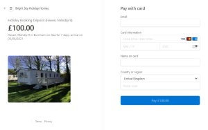 Holiday Home Booking Payments