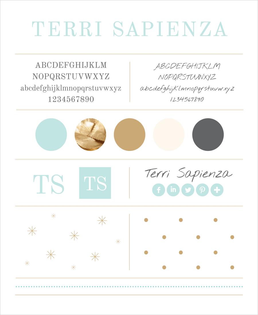 Terri Sapienza branding by Tippi Thole of Bright Spot Studio
