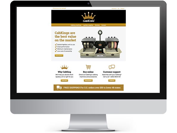 CabKing website design by Bright Spot Studio