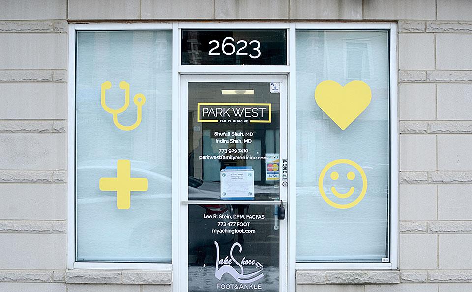 Park West Family Medicine signage by Bright Spot Studio
