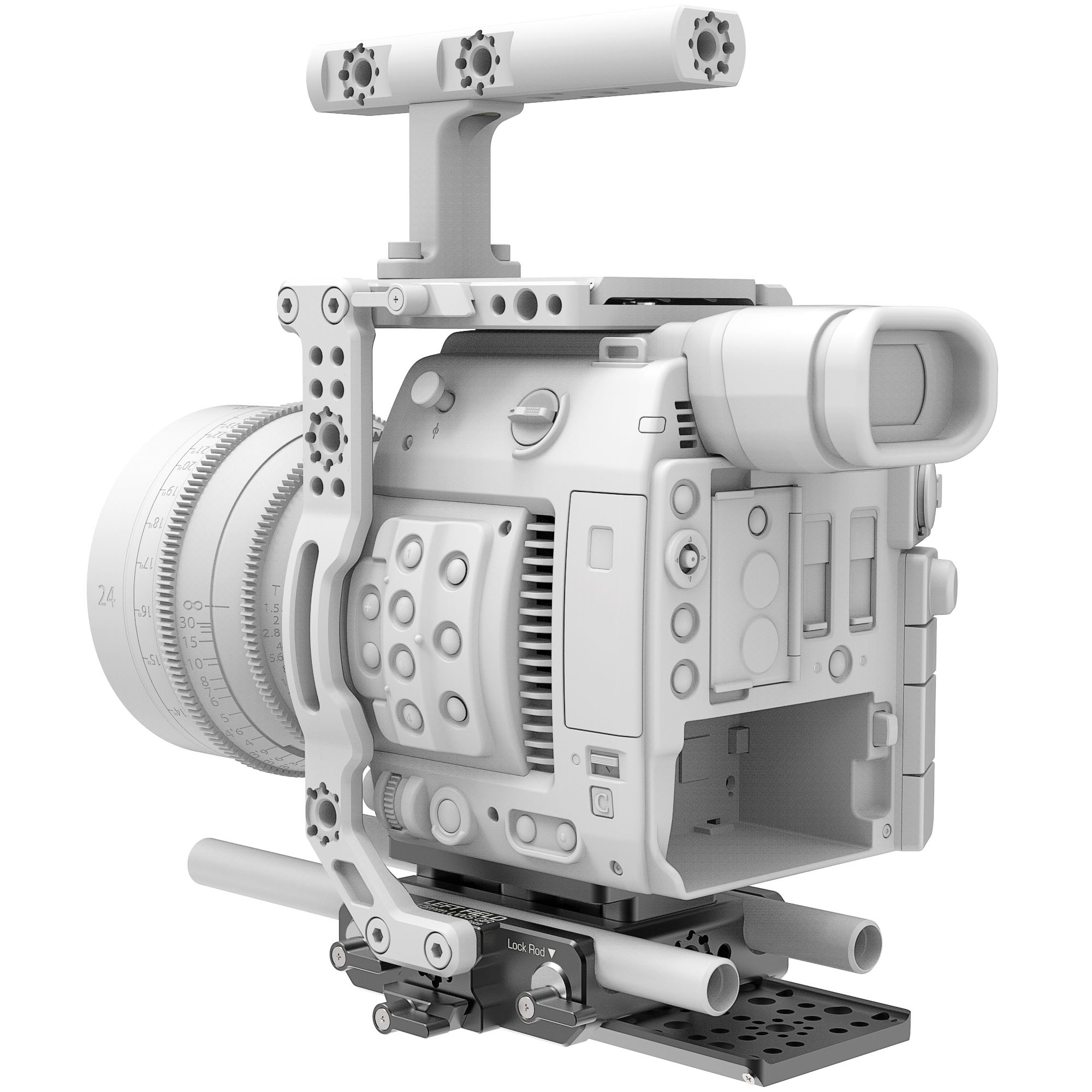 B4005.0001 Canon C200 LWS sliding Baseplate 12