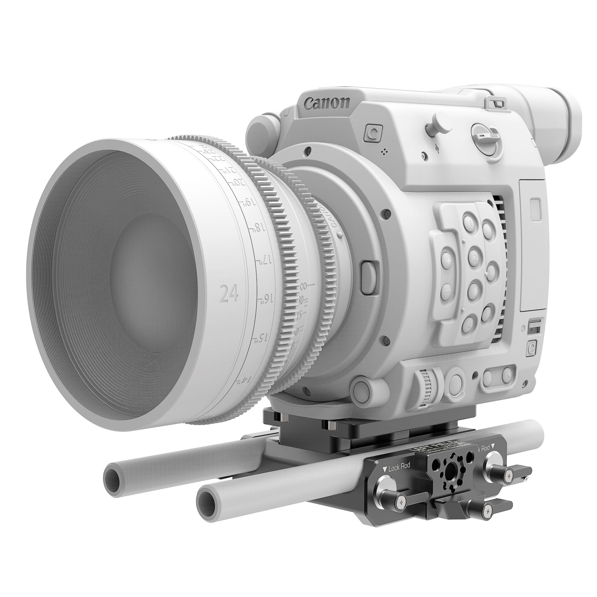 B4005.0001 Canon C200 LWS sliding Baseplate 6 1