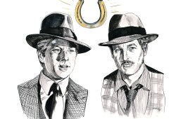 Robert Redford and Paul Newman in The Sting (1973) | art by Brianna Ashby
