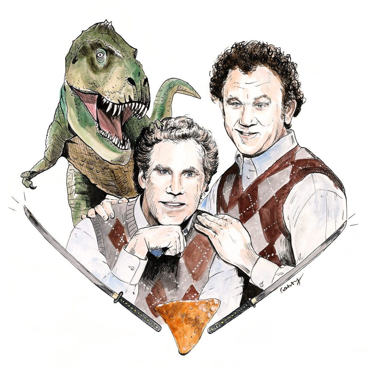 Step Brothers (2008) | art by Brianna Ashby