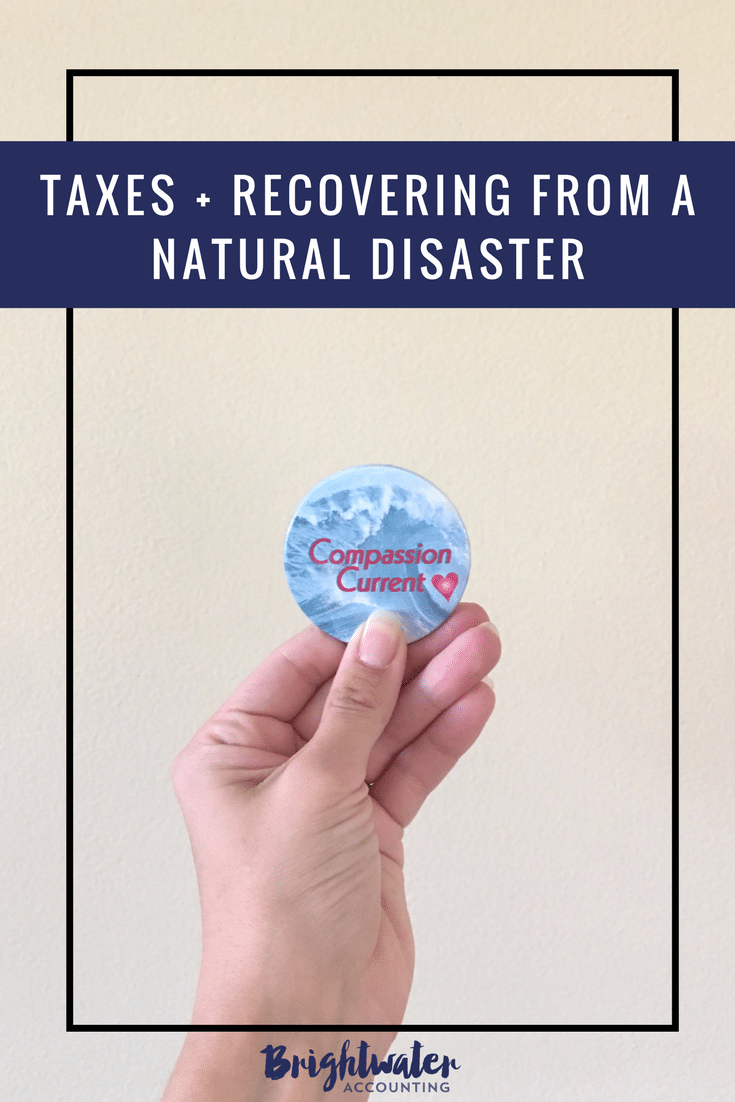 taxes and recovering from a natural disaster