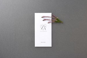 Contemporary Minimal Wedding Invitation