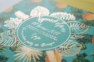 Πρόσκληση γάμου tropical