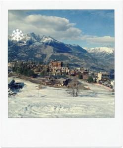 pleine conscience neige sur la station de ski de Praloup