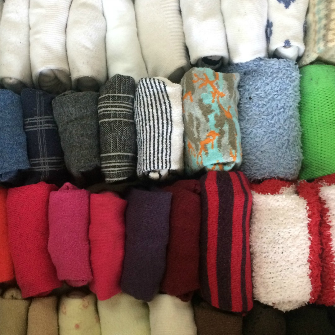 rangement des chaussettes