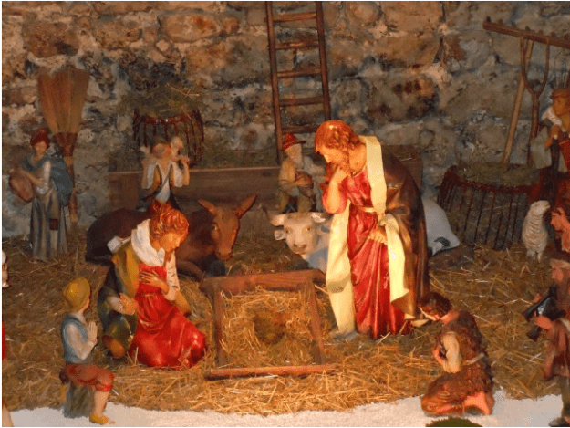 Christmas nativity scene Assisi Umbria Italy