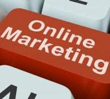 online marketing on keyboard